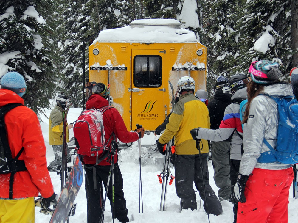Our chariot: The Selkirk Wilderness Skiing snowcat - BOB LEGASA
