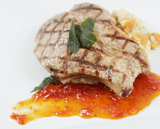 Grilled Pork Chop from Clover. - YOUNG KWAK