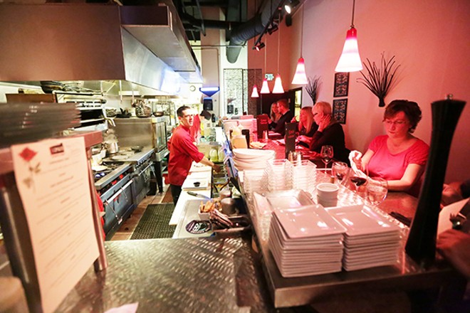 The chef's table at Scratch earlier this month. - YOUNG KWAK