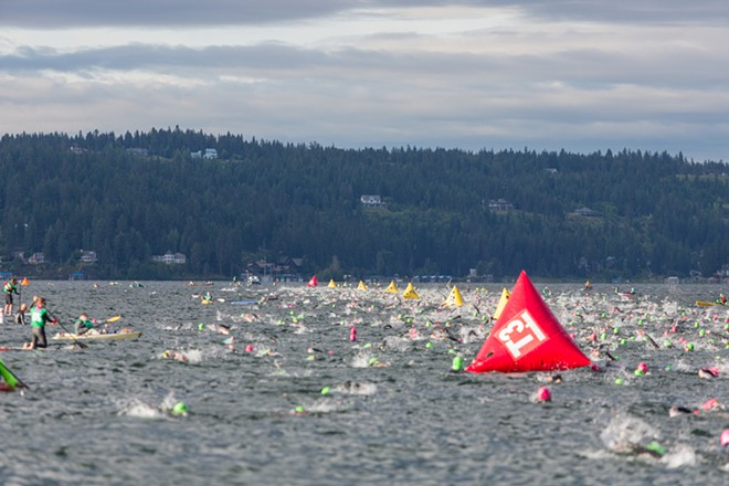 More than 2,000 competitors swim the 2.4-mile course. - MATT WEIGAND