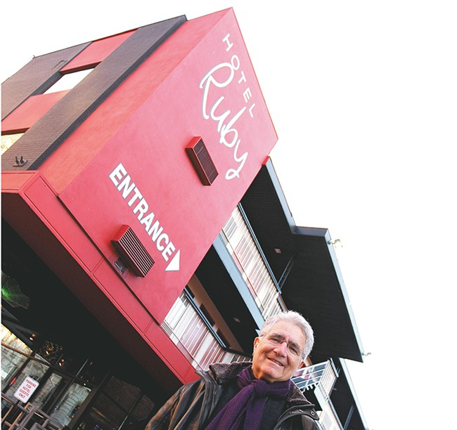 Owner Jerry Dicker outside his Hotel Ruby. - YOUNG KWAK