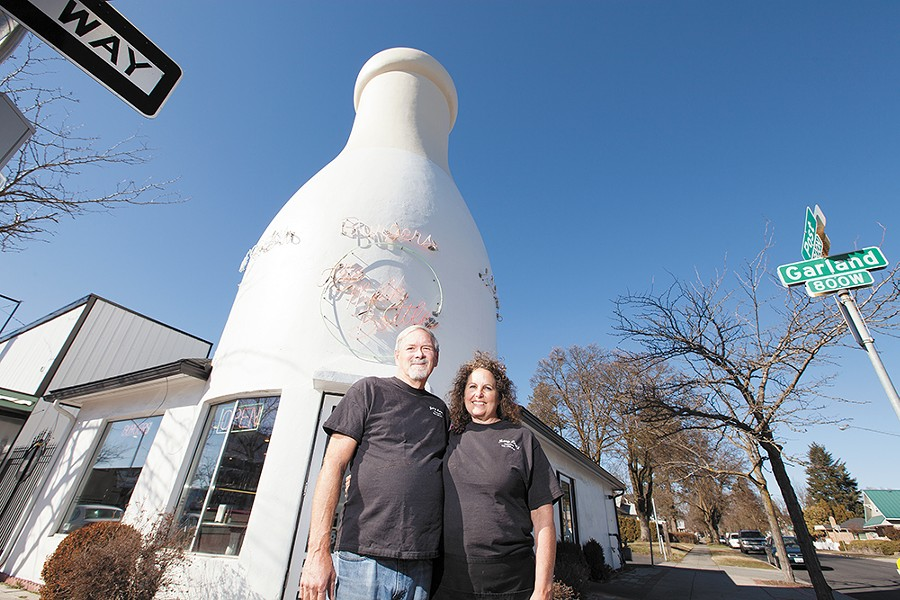 Owners of Mary Lou's Milk Bottle: husband and wife Edward and Kris Ritchie. - YOUNG KWAK