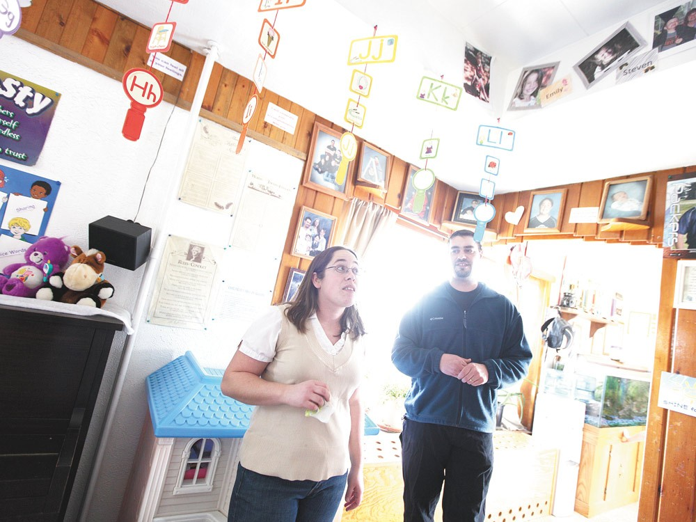 Owners Shannon, left, and Tim Benn at Little Precious Ones day care, located off Market Street in Spokane. - YOUNG KWAK