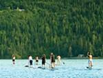 Paddleboarding on Lake Coeur d'Alene