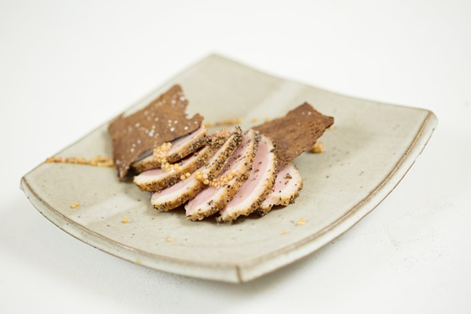 Pastrami Duck from the Wandering Table.