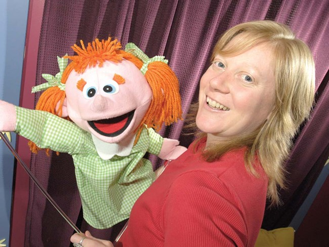 "Penny Walter, with Robin: ""This is going to sound hokey, but the puppets just come through me."" - STEVE HAMBUCHEN"