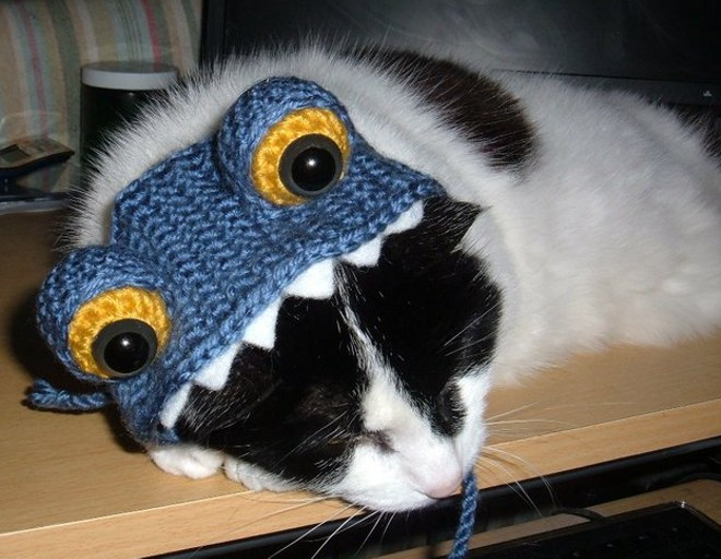 Peppermint Patty in a monster hat, from Spokane, Wash. Submitted by Melanie Fiegl.