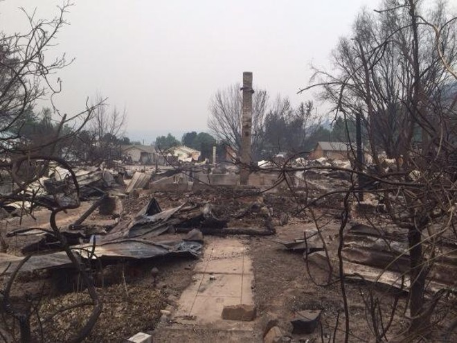 In Pateros, this was the mayor's house. Her mother and uncle lost theirs as well. - SCOTT LEADINGHAM
