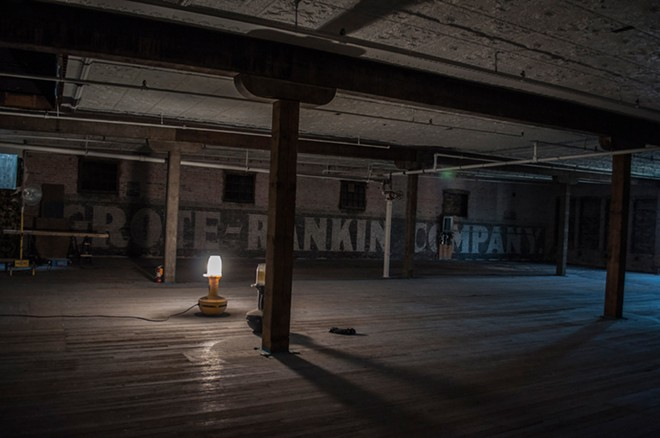 The Dania building's fourth floor gives a not-often-seen look into Spokane's past. - SARAH WURTZ