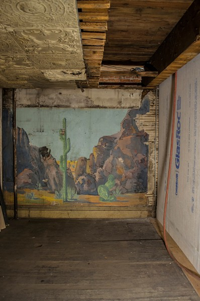 The remains of what used to be the Cactus Room speakeasy, located in the basement floor of the 100-year-old Dania Furniture building. - SARAH WURTZ