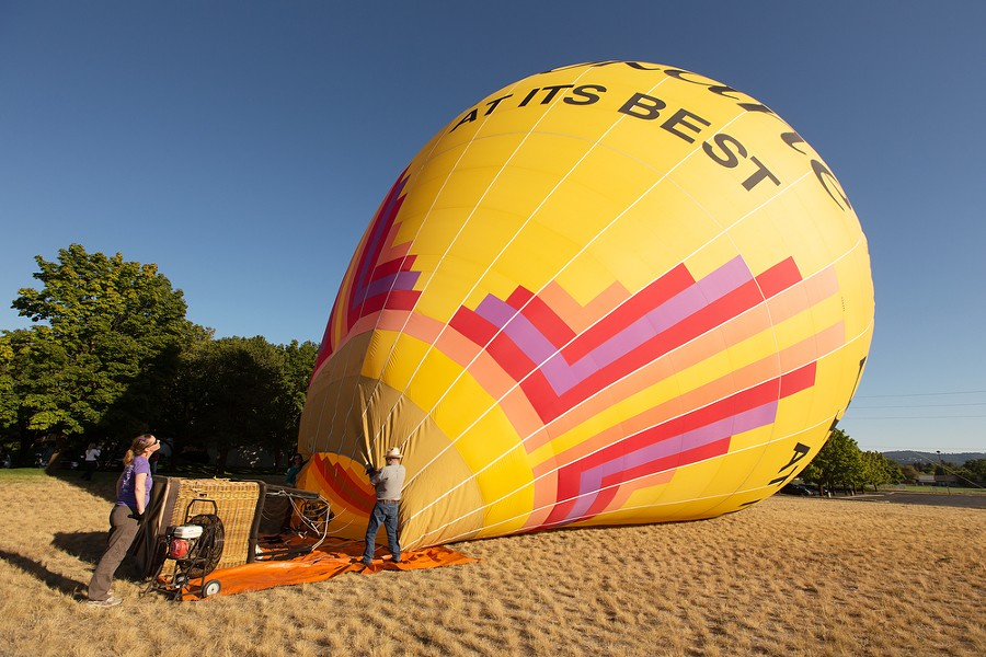 """Spokane At Its Finest"" is inflated before a hot air balloon ride. - YOUNG KWAK"