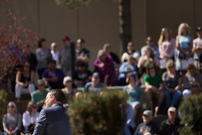 City of Spokane Mayor David Condon speaks during the dedication. - YOUNG KWAK