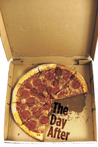 Pizza Pipeline's pepperoni pizza proved excellent after a little microwave love. - YOUNG KWAK