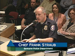 Police Chief Frank Straub gives update to Use of Force Commission on Aug. 21. - CITY CABLE 5