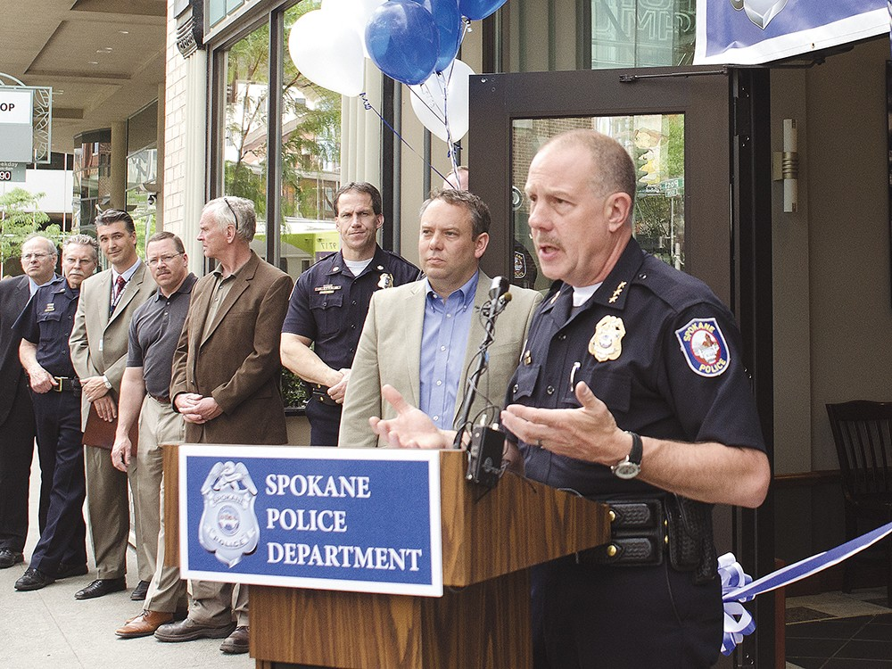 Police Chief Frank Straub says the substation will increase police visibility. - JACOB JONES