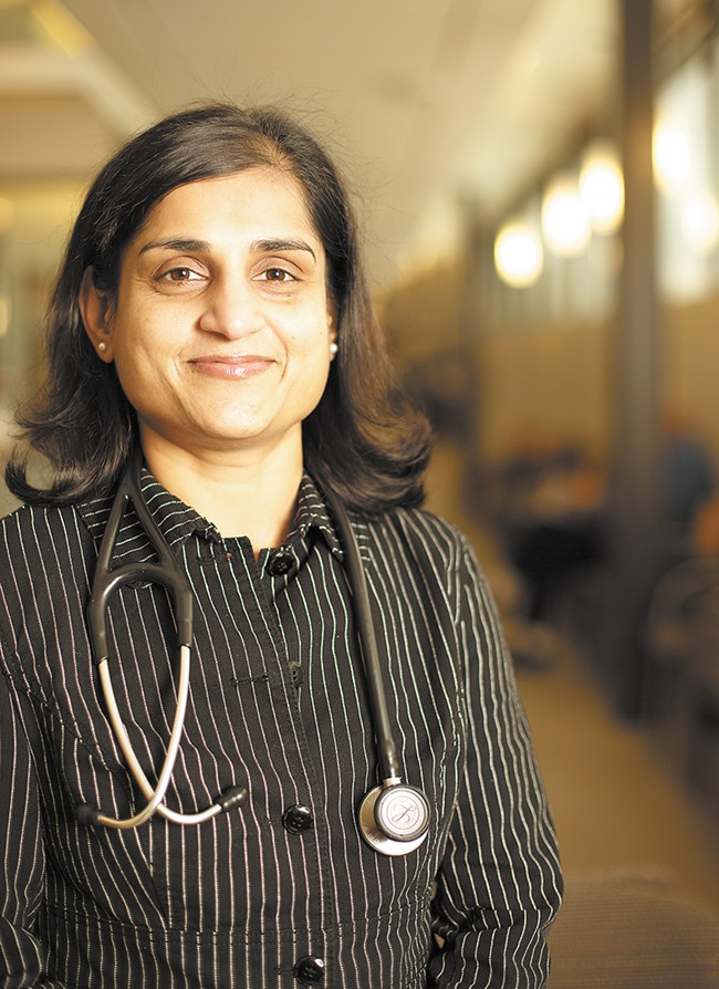 "Priya Sudarsanam, MD, always knew she wanted to be a doctor or an engineer. But completing medical school required both family support and being ""self-motivated."" - YOUNG KWAK"