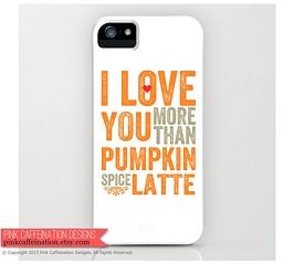 Pumpkin Spice Latte iPhone case.