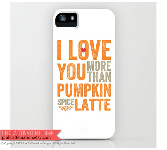 Pumpkin Spice Latte iPhone case.