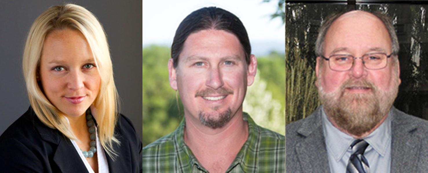 The panelists, from left: Hilary Bricken, Matt Cohen and Randy Simmons.