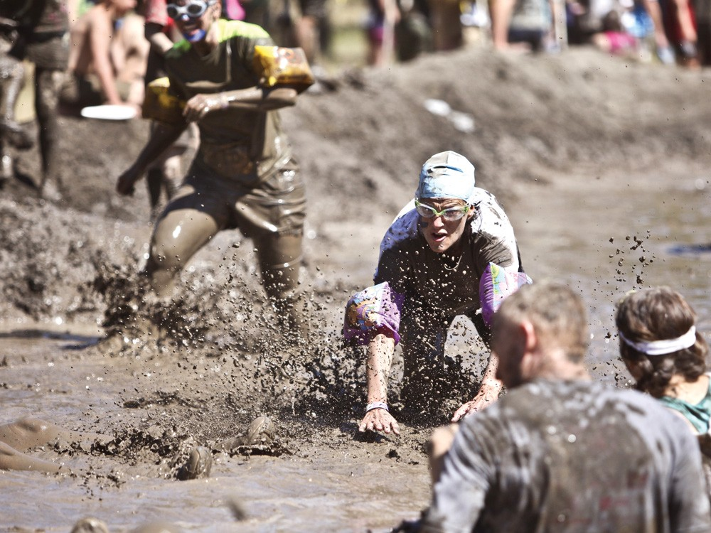 Racers at last weekend's Dirty Dash in Riverside State Park - JORDAN BEAUCHAMP