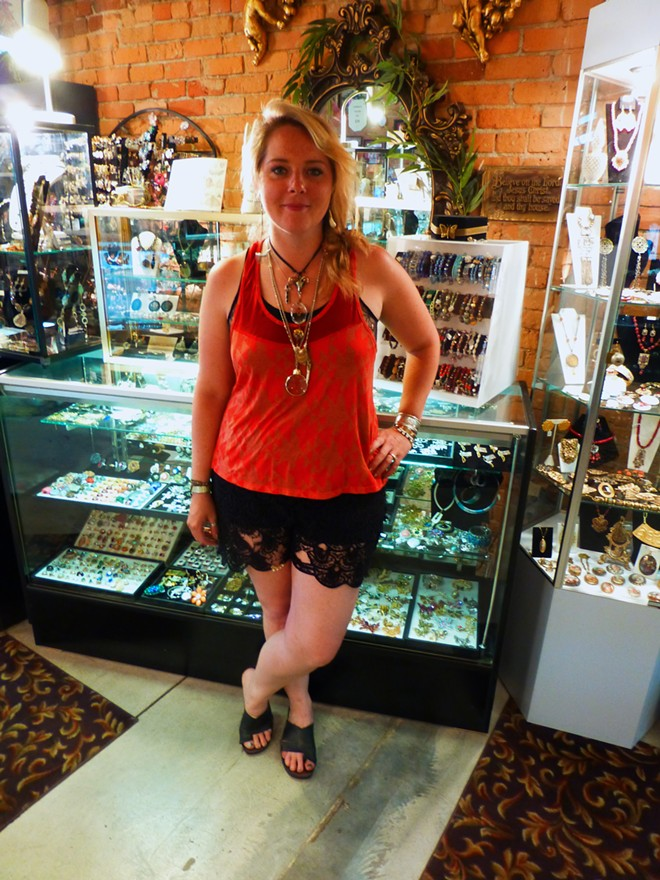 Rebecka Anderson standing in front of her Artesian Fox collection found in Finders Keepers II. - MADISON BENNETT