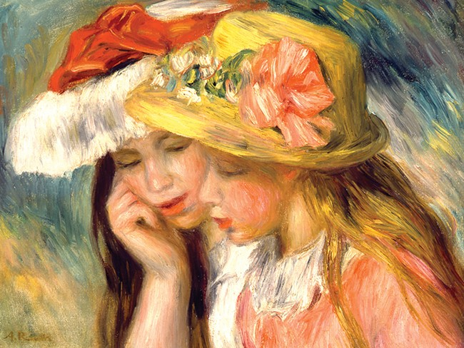 """Renoir's """"Heads of Two young Girls"""""""
