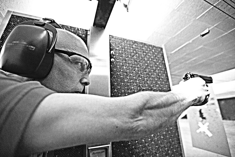 Retired Staff Sgt. Andy Brown is working on a book about the Fairchild rampage. - YOUNG KWAK