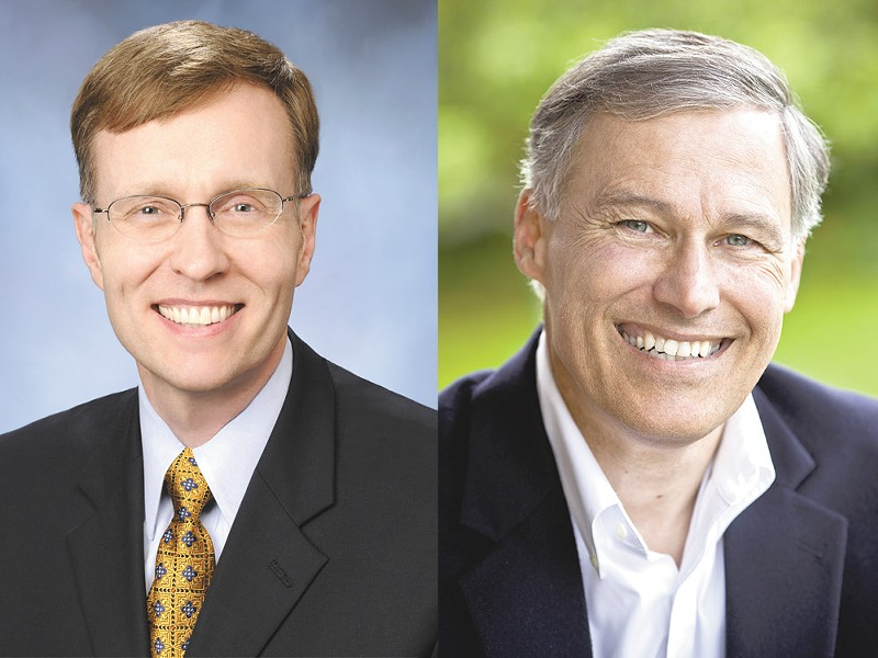 Rob Mckenna, left, and Jay Inslee