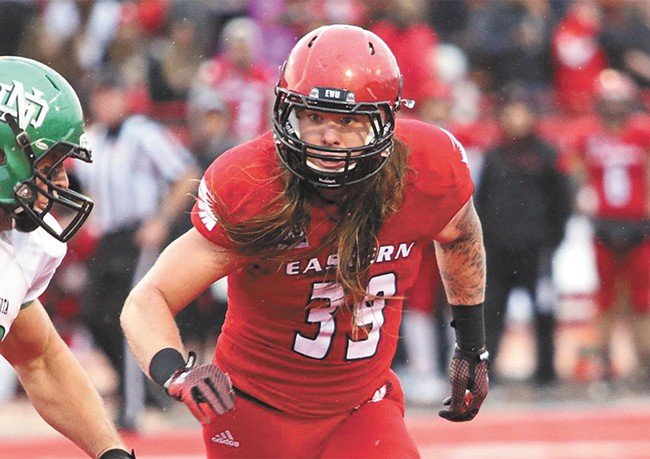Ronnie Hamlin is second in Big Sky history with 448 career tackles.