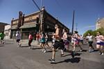Runners head around the final turn.