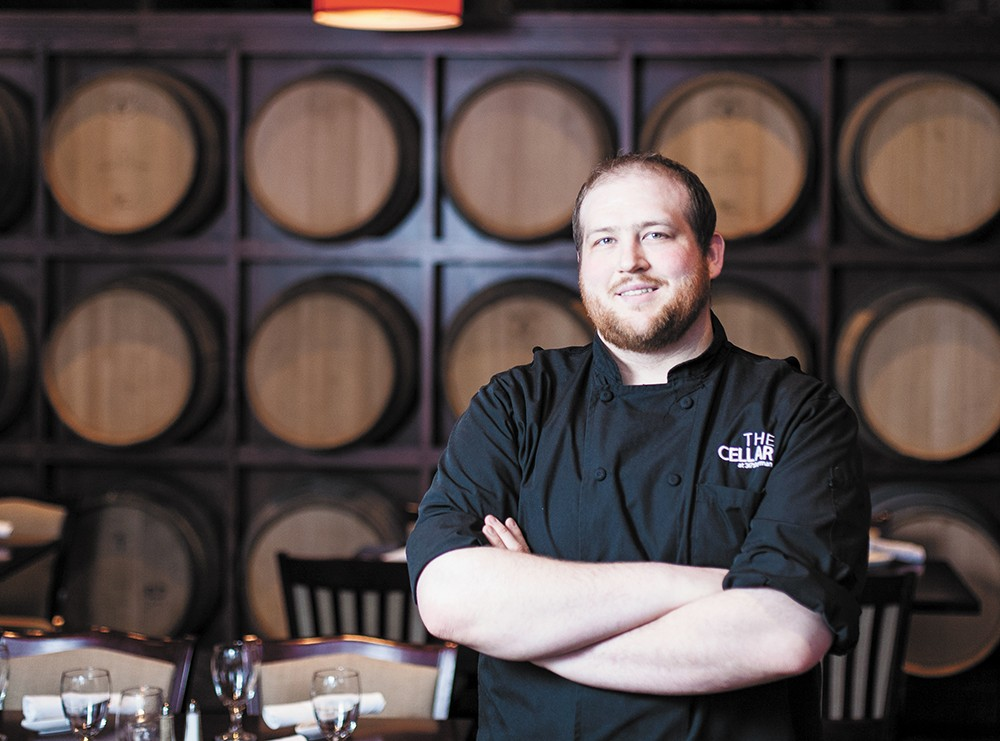 Ryan Stoy, executive chef of the Cellar in Coeur d'Alene. - MIKE MCCALL