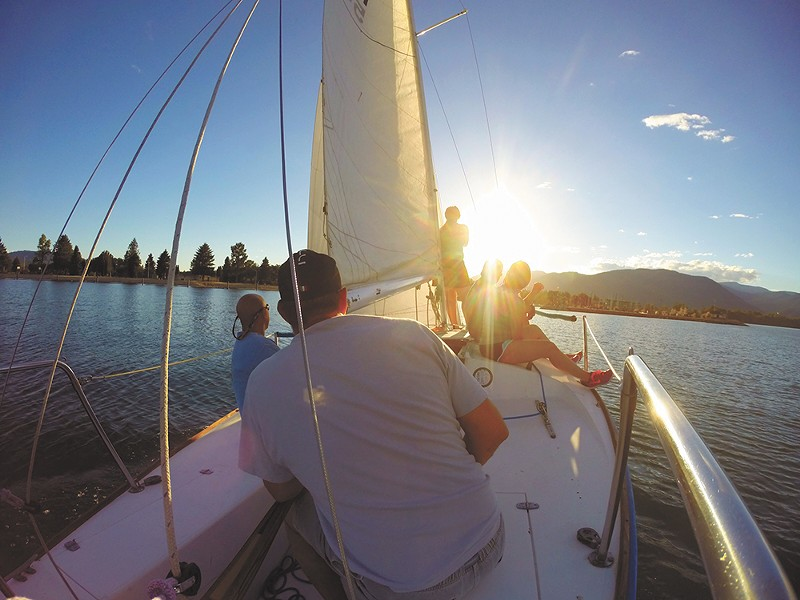 Sailing into the sunset near Sandpoint. - JEN FORSYTH