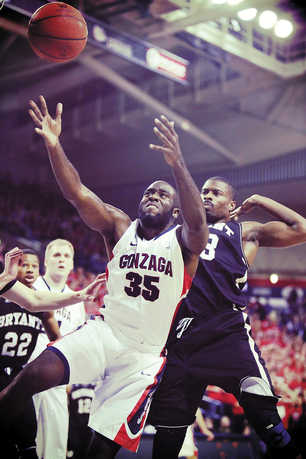 Sam Dower snagged a career high 17 rebounds against Bryant last week. - YOUNG KWAK