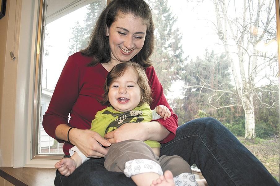 Sara Walch says says a tongue-clipping procedure improved son Sean's ability to nurse. - SARAH WURTZ