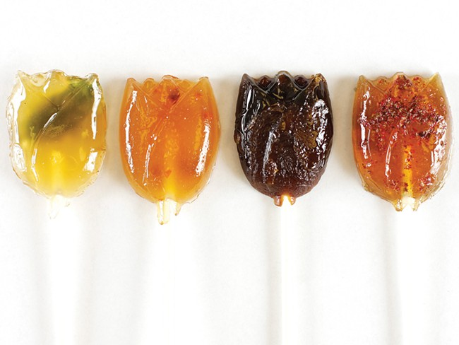 Savor Sweets promises gourmet lollipops, like basil, habanero, espresso and pink peppercorn lollipops. - YOUNG KWAK