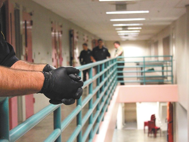 Scene from an early Saturday morning at jail. - JOE KONEK