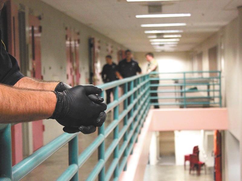 Scene from an early Saturday morning at jail. - JOE KONEK