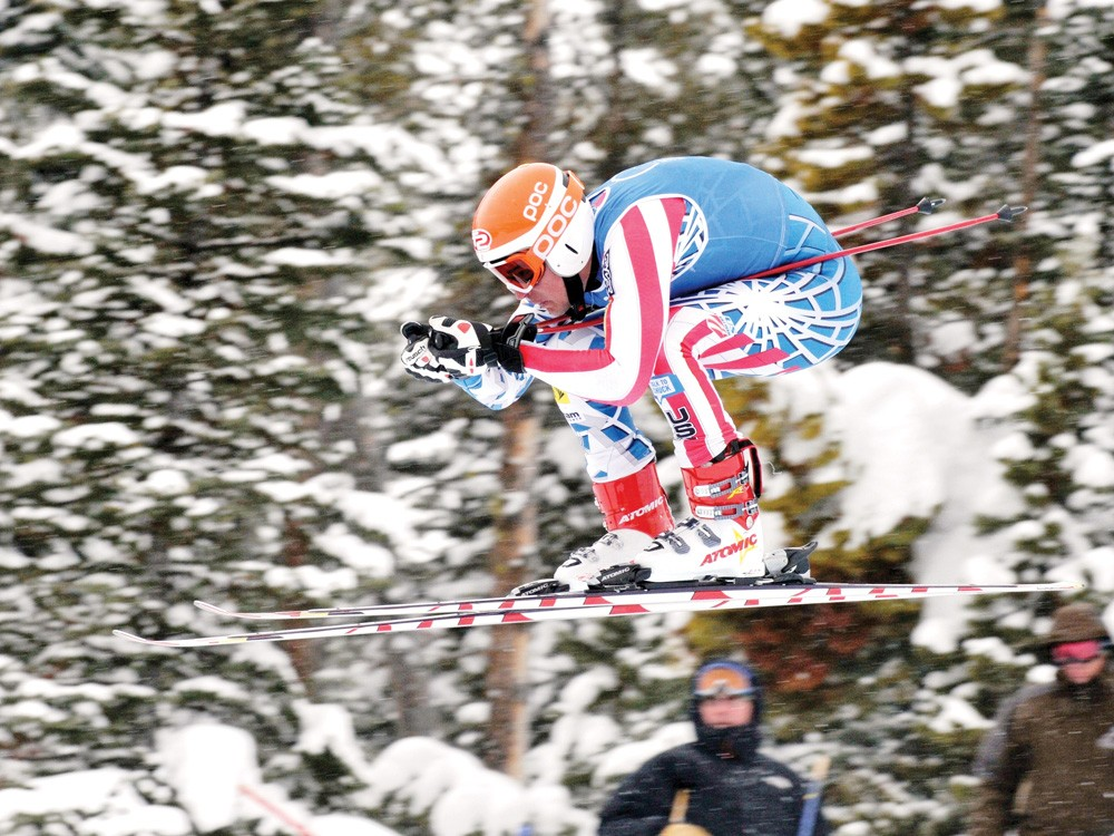Scott Snow running the downhill at Big Sky in 2010. - SCOTT SNOW