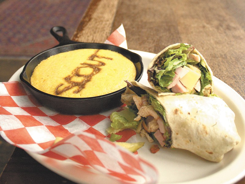 Scout's signature cornbread and wrap makes for a hardy lunch. - NIKKI BUSCH