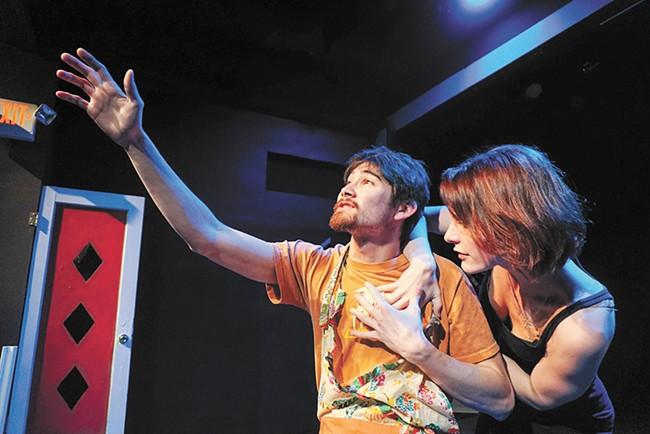 Sean Stoudt (left) and Jordan Noël Lannen star in Stage Left's Creeps. - COURTNEY BREWER