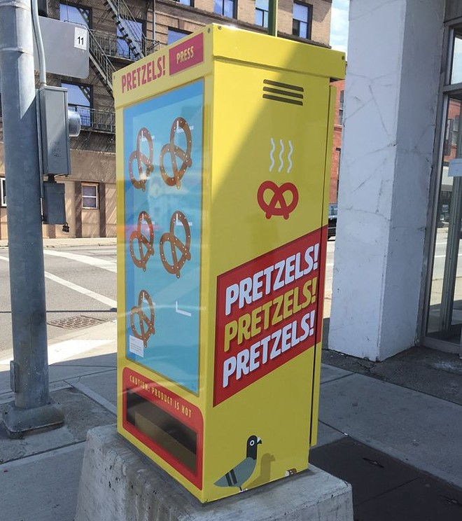 """Pretzels"" by Jacob Greif is found at Second and Washington, kitty-corner from the Big Dipper."