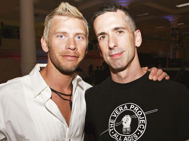 Shadle Park High grad Terry Miller (left) with his longtime partner, Dan Savage.