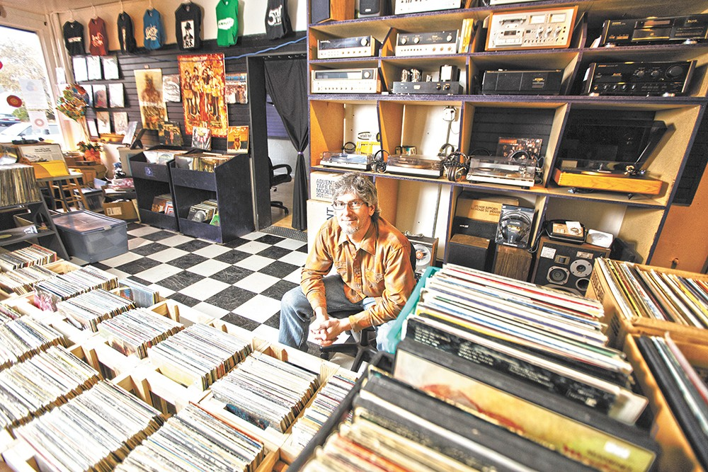 Shop owner David Thoren settles into his new digs. - YOUNG KWAK