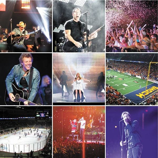 Shots from some of the concerts and events at the Spokane Arena in 2013, which proved to be one of the most successful years in the venue's history.