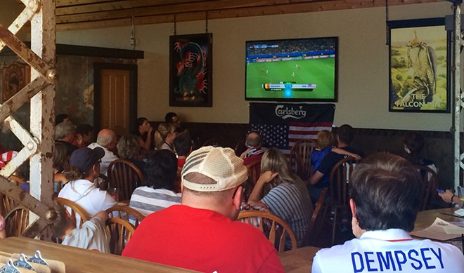Silence (and despair) fell over the Geno's crowd watching the USA vs. Belgium World Cup match yesterday. - LAURA JOHNSON