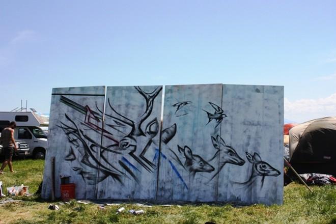Art created at the standard Sasquatch! campsite. - LAURA JOHNSON