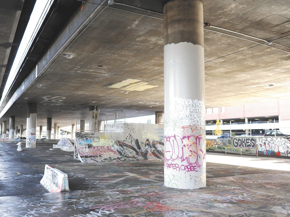Skateboarders want the city to renovate the skate park under I-90 downtown. - CHRISTIAN WILSON