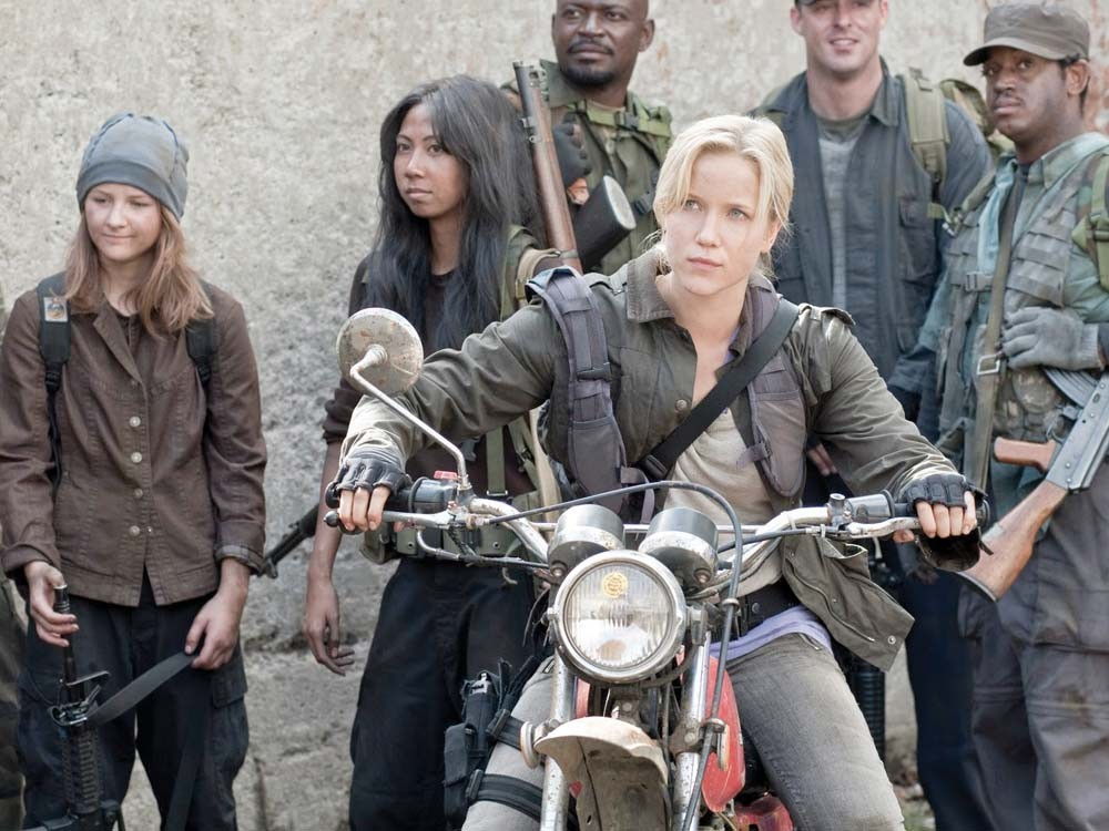 Somehow, motorcycles always rule the post-apocalyptic landscape.