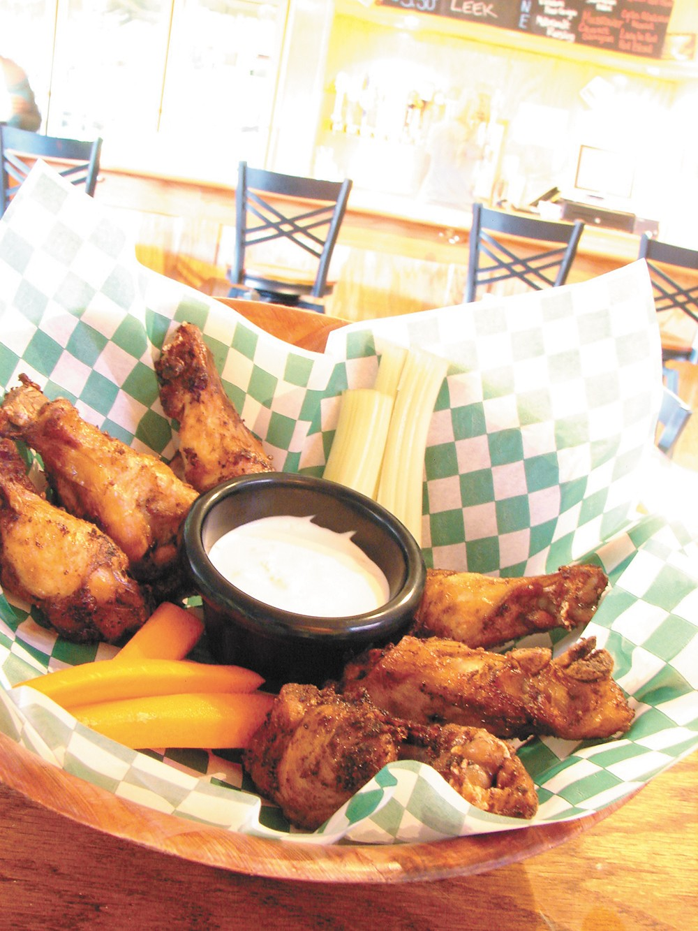 Soon you can pair these hot wings with a Paragon brew. - CARRIE SCOZZARO