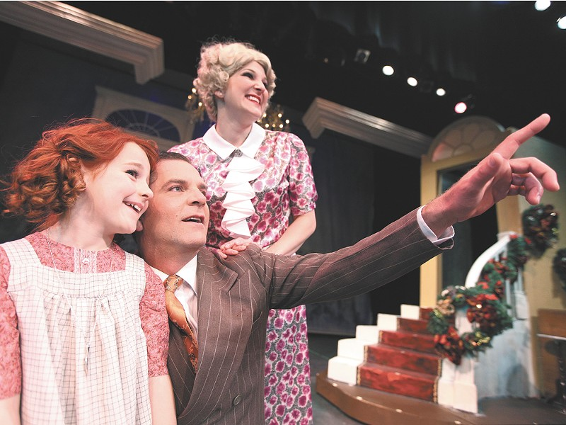 Sophia Caruso (left) dazzles as Annie in the Civic\'s production of the timeless musical. - YOUNG KWAK